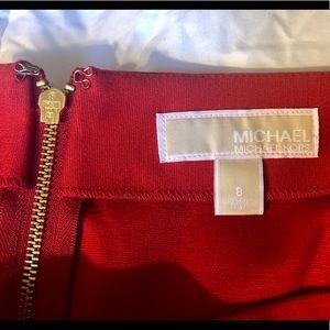 MICHAEL Michael Kors Skirts - NWOT Michael Kors Red & Blk knit mini skirt size 8